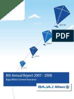BAJAJ ALLIANZ AnnualReport2007-08