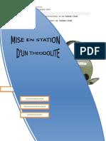 Mise en Station d'Un Théodolite
