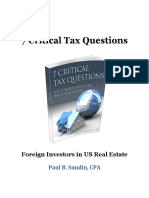 7 Critical Tax Questions for Foreign Investors