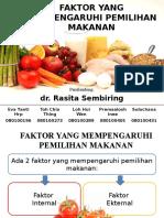 Faktor Yang Mempengaruhi Pemilihan Makanan