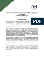 Bases de La Convocatoria INEE 2017