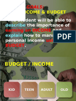 web - week 1 - day 2 income budget compare a budget start an expense statement