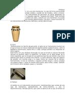 instrumentos musicales con informacion