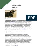 Condicionamiento clásico - Pavlov