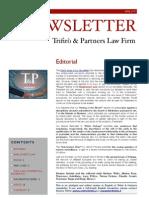 Newsletter T&P N°35 Eng