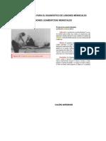 Pruebas Usadas Para El Diagnóstico de Lesiones Meniscales