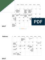 Calendario Mensual 2017 02 Word