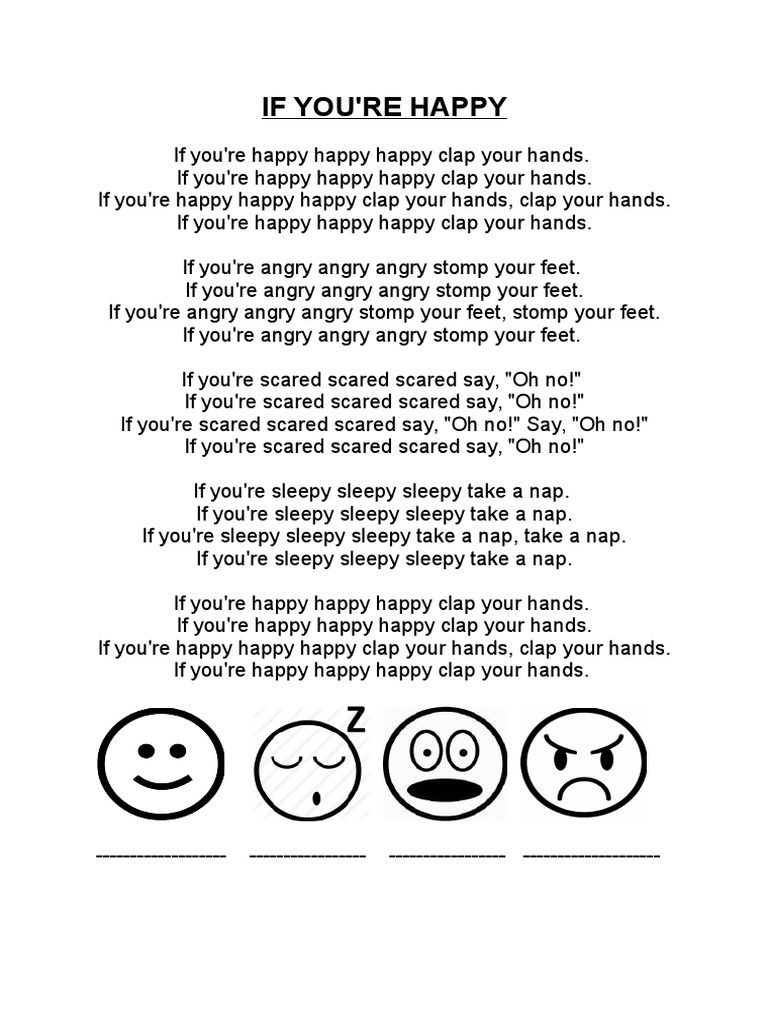 If You Are Happy Letra Canción