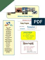 minerva rotary newsletter - january  11  2017