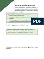 Processo Legislativo Federal - MÓDULO I