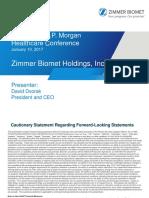 Zimmer-Biomet (ZBH) JP Morgan Presentation 2017
