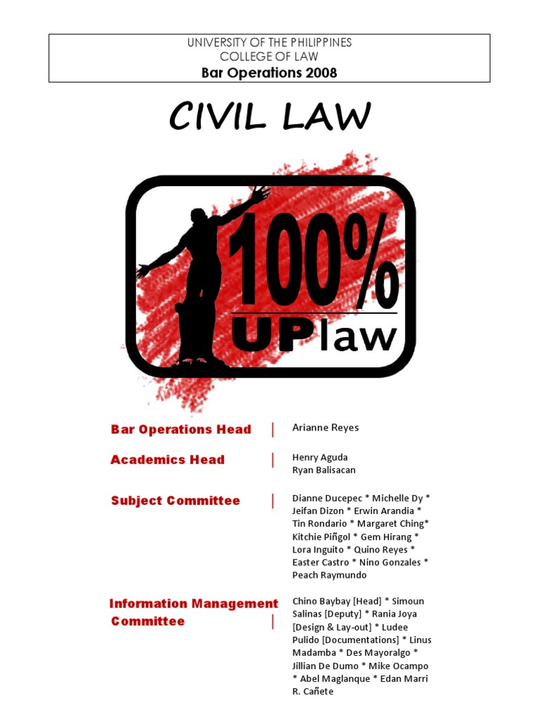 Up 08 Civil Law | Annulment | Marriage