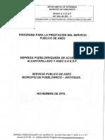 Programa Para La Prestación Del Servicio Publico de Aseo - Epaaa