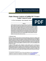 Finite Element Analysis of Infilled RC Frames Under Lateral Loads