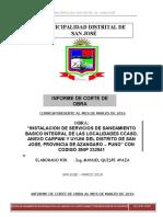 Informe de Corte de obra 02-04-2016