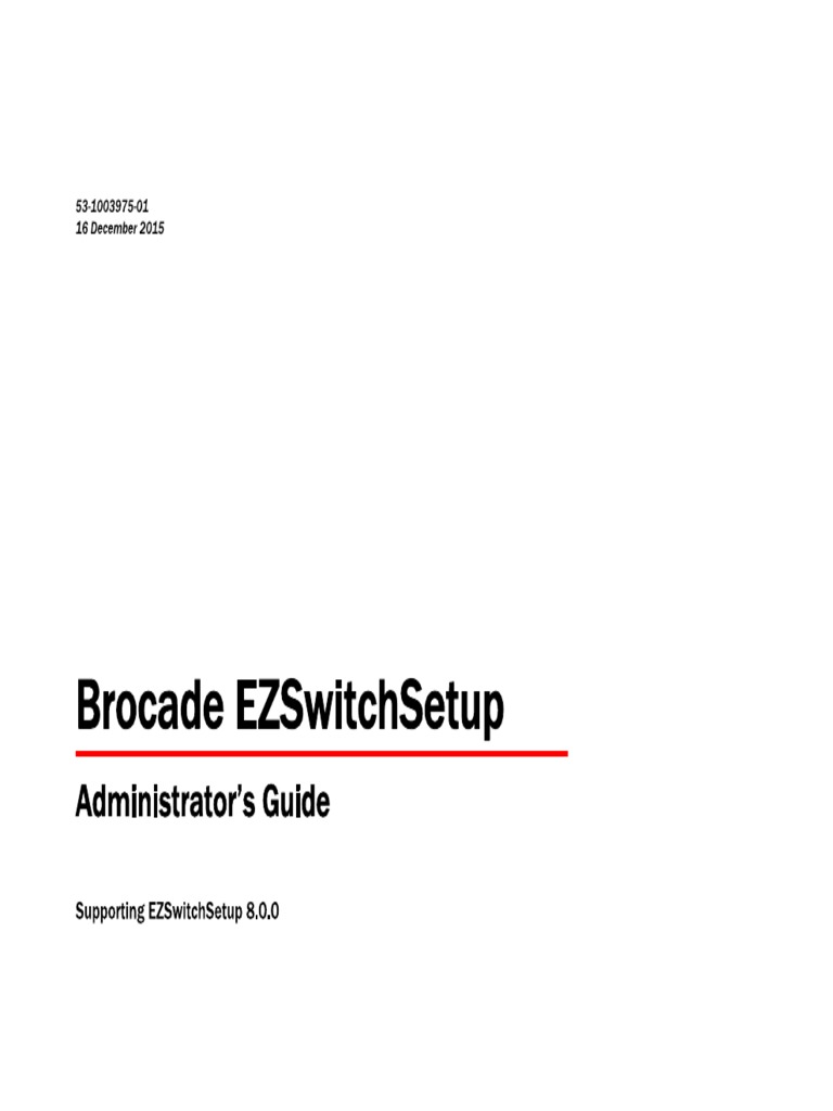 Brocade ezswitchsetup administration guide, 8. 2. 0.