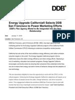 Energy Upgrade California® Selects DDB  San Francisco to Power Marketing Efforts