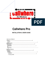 CallWhere Pro Manual