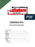 CallWhere Pro Manual