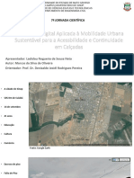 Ferramenta Digital Aplicada à Mobilidade Urbana Sustentável para a Acessibilidade e Continuidade em Calçadas