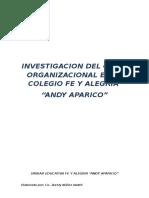 Inv. Clima Organizacional Del Fe y Alegria Andy Aparicio