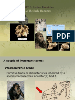 6_0 the Early Hominins
