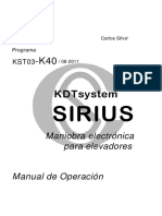 Dt1580901 - Sirius - Manual k40 - r1 - Es