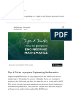 Tips & Tricks to Prepare Engineering Mathemati