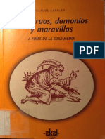 Kappler, Claude - Monstruos, Demonios y Maravillas a Fines de La Edad Media