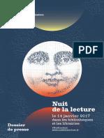 Nuit de la lecture 2017 - Dossier de Presse
