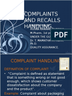 complaintsandrecallhandling-110908115139-phpapp01