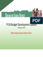 20170111 FY18 Budget Presentation - Board Approved