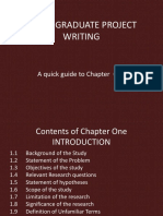Guide to Project Writing-Chapter One