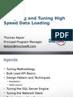 Designing and Tuning high speed data loading - Thomas Kejser.pptx