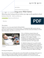 10 Tips to Finishing Your PhD Faster