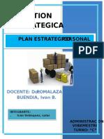 Plan Estrategico Personal Ivan Velasquez Salas