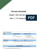 Teaching Organiser Chapter 1