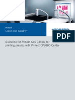 Guideline for Prinect Axis Control