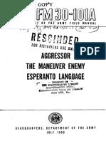 FM 30-101A - Esperanto the Aggressor Language