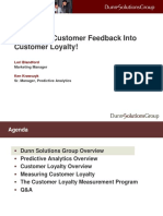 Building a Customer Loyalty Measurement Program with BI