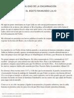 LA FINALIDAD DE LA ENCARNACIÓN SEGUN EL BEATO RAMON LLULL