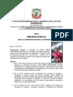 DENUNCIA PUBLICA Asesinado Vice Presidente de La Asociacion Campesina Para El Desarrollo Del Alto Sinu ASODECAS