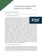 Indice Preliminar Desarrollo Humano 2009