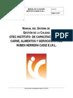 Manual Del Sistema de Gestión de La Calidad