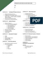 Estructura Plan de Negocios
