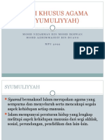 Ciri-ciri Khusus Agama Islam (Syumuliyyah)