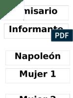 Personajes Nombres Para Imprimir
