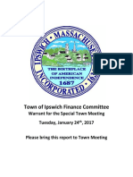 Finance Committee Report - STM 01-11-17 FINAL