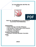 Test de Tolerancia a La Glucosa Pospandrial