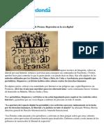 Día Mundial de La Libertad de Prensa. Represión en La Era Digital